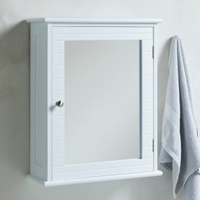 Nautical Mirror Cabinet with Nickel Handle