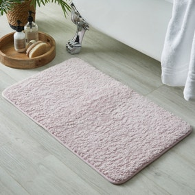 Teddy Blush Memory Foam Bath Mat