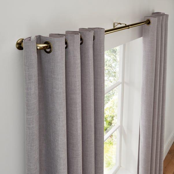Room Darkening Metal Extendable Curtain Pole Dia. 25/28mm Antique Brass