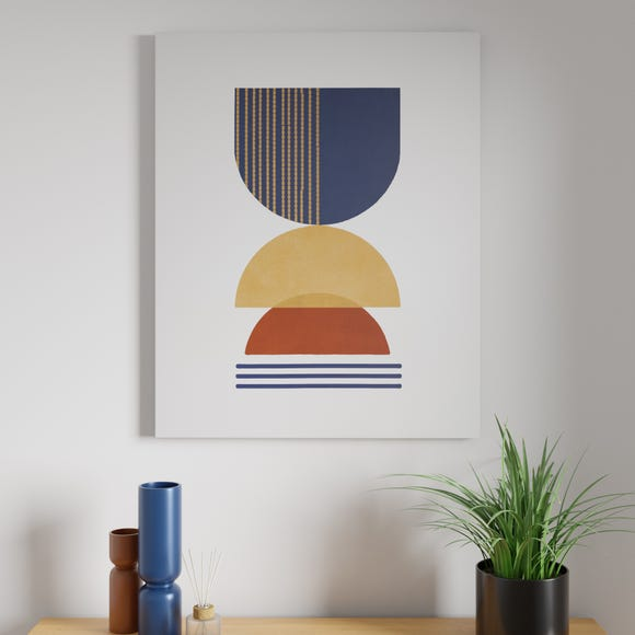 Abstract Shapes Canvas  MultiColoured