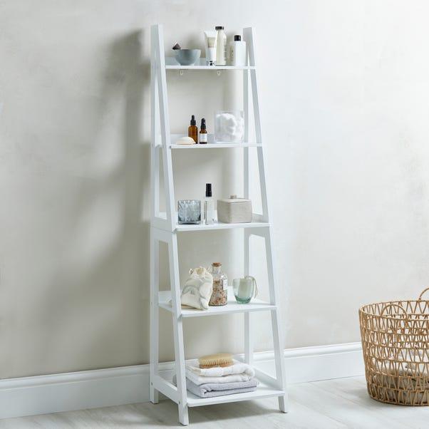 Nautical White Ladder Shelves