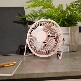 """4"""" Pink USB Desk Fan"""