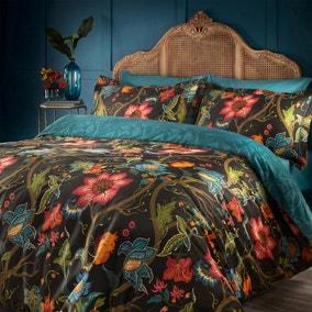 Paoletti Botanist 100% Cotton Duvet Cover and Pillowcase Set