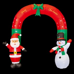 2.4M Inflatable Waving Santa and Snowman Arch