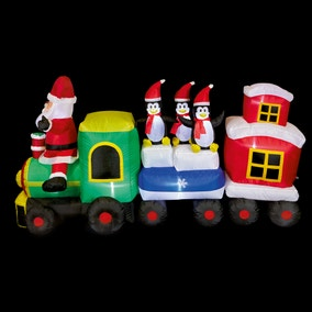 2.1M Santa Train Inflatable With Carriages