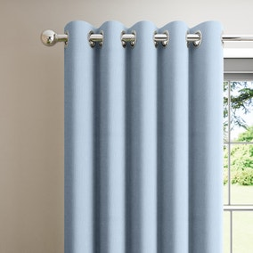 Boston Ashley Blue Blackout Eyelet Curtains