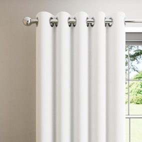 Boston White Blackout Eyelet Curtains
