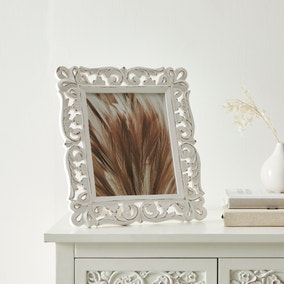 White Lace Wooden Photo Frame 30x35