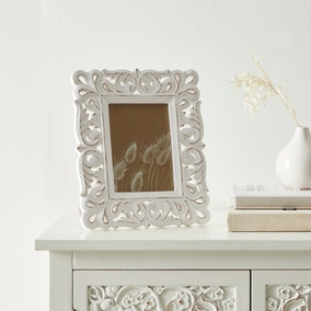 White Lace Wooden Photo Frame