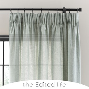 Recycled Weave 2Way Seafoam Curtains