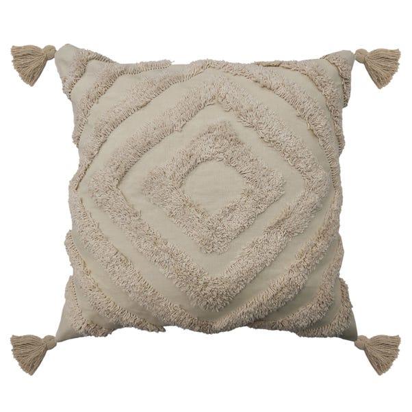 Tufted Diamond Natural Cushion Natural (Brown)