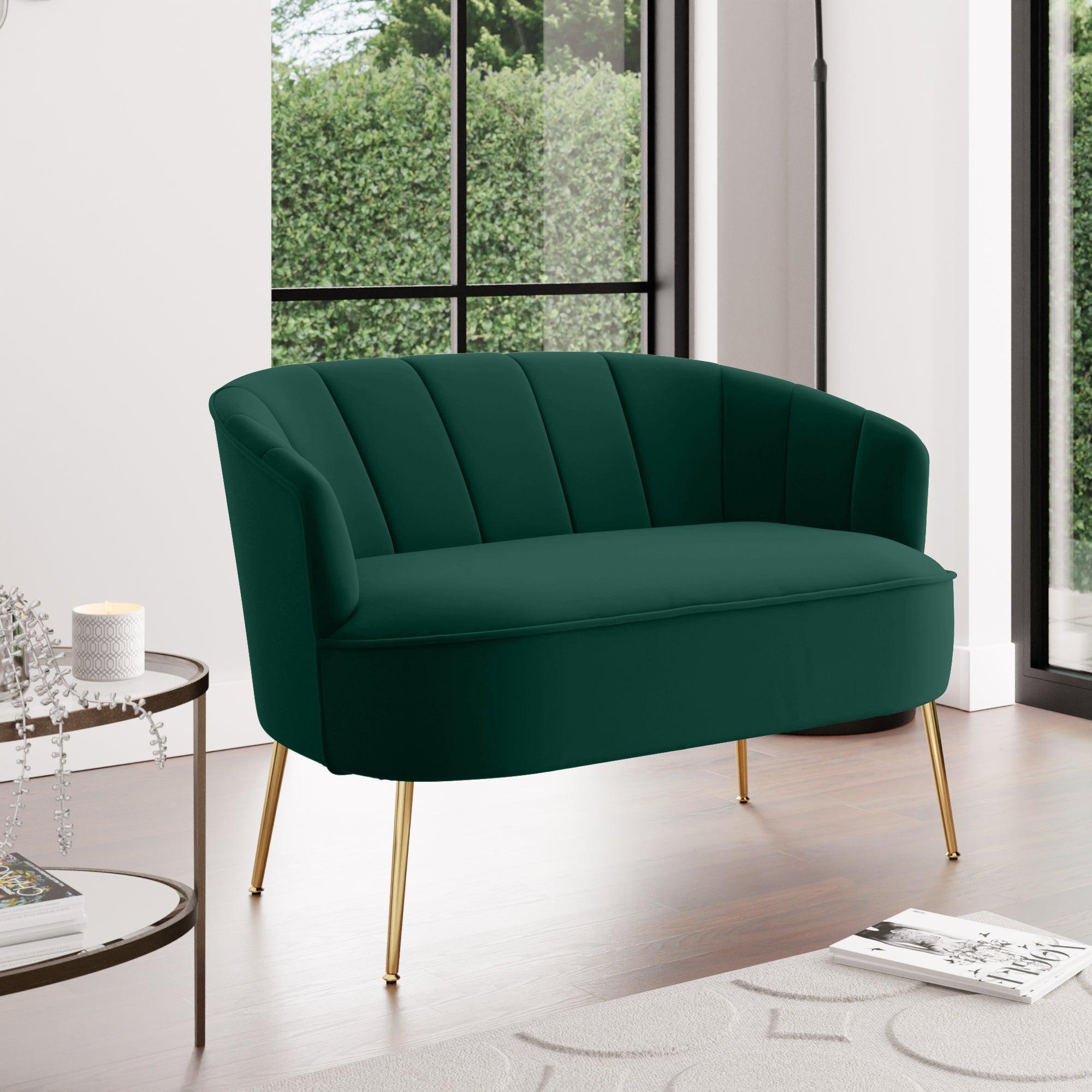 Matilda Velvet Two Seater Sofa Green
