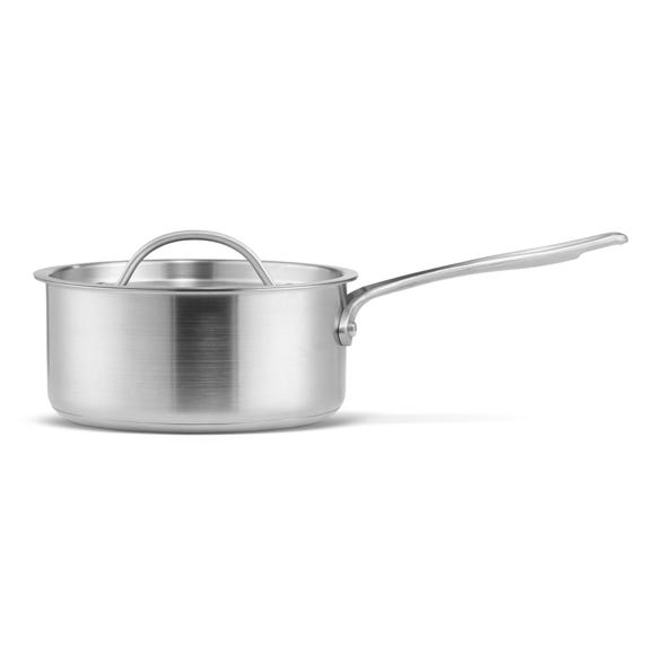 Dunelm Brushed 18cm Saucepan Silver