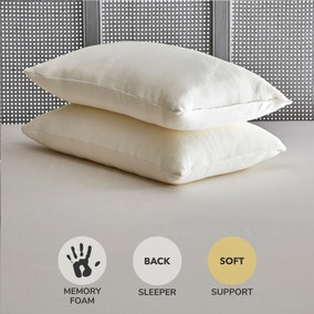 Fogarty Soft and Bouncy Memory Foam Pillow Pair