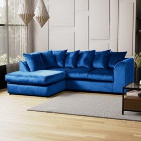 Blake Left Hand Velvet Corner Sofa