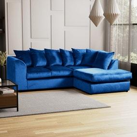 Blake Right Hand Velvet Corner Sofa