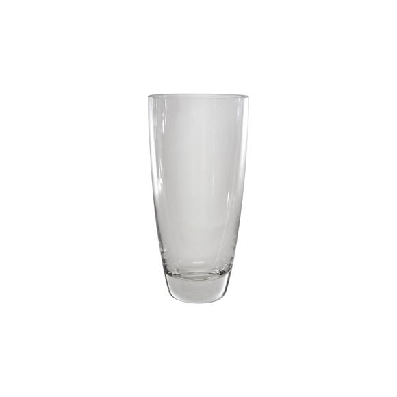 Glass Tapered Vase 24cm Clear