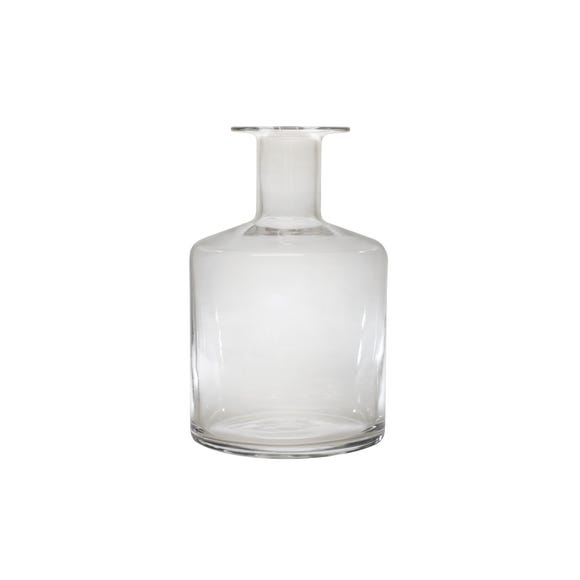 Clear Glass Vase 29cm Clear