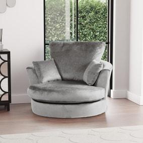 Blake Velvet Swivel Chair
