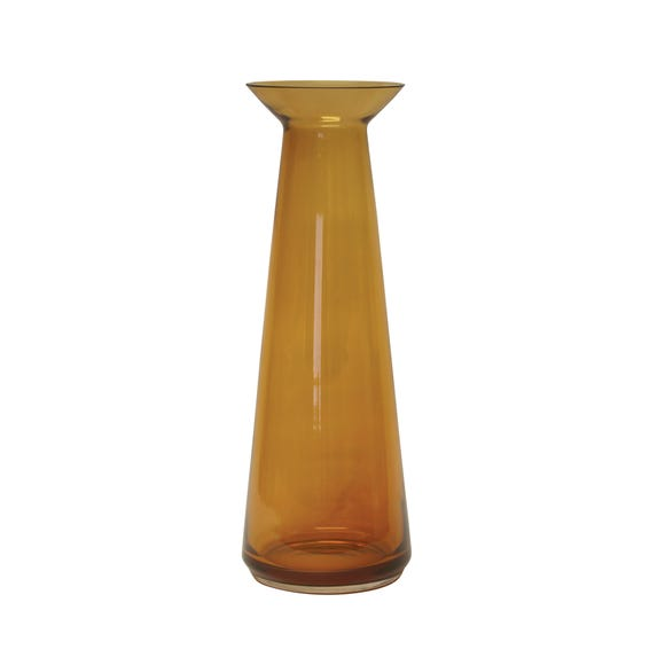 Tall Amber Glass Vase 44cm Amber