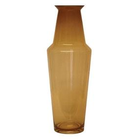 Amber Glass Floor Vase 57cm