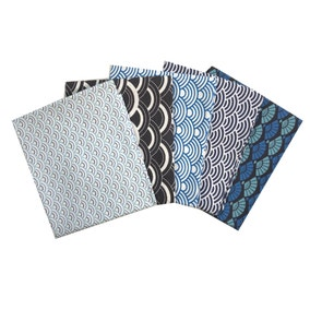 Pack of 5 Fans and Waves Fat Quarters