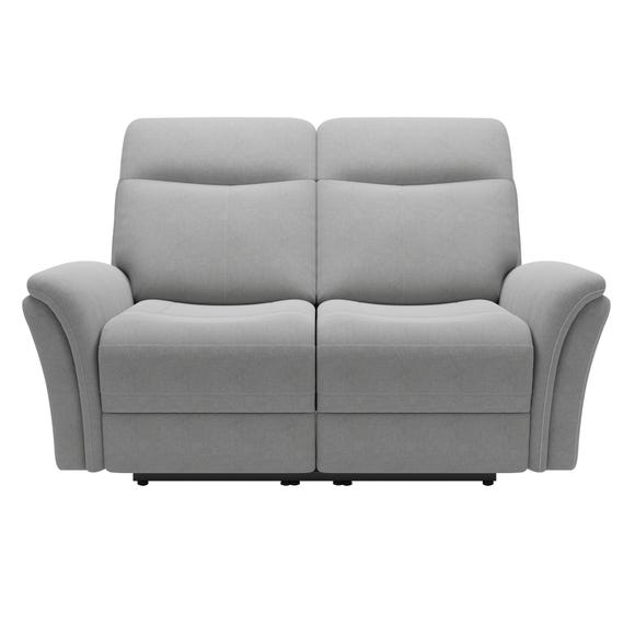 Monte Chenille Reclining 2 Seater Sofa Light Grey