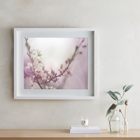 Dorma Purity Dreamy Blossom Mounted and Box Framed Exclusive Nature Print