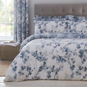 Honesty Navy Reversible Duvet Cover and Pillowcase Set