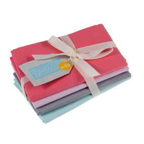 Pack of 4 Pink Sunrise Fat Quarters
