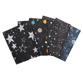 Pack of 5 Outer Space Fat Quarters