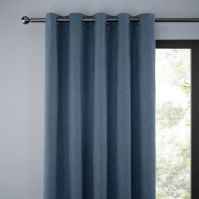 Jennings Ashley Blue Thermal Eyelet Curtains