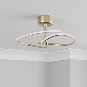 Cortez Ceiling Fitting Brushed Gold