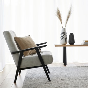 Arkin Wooden Frame Accent Chair - Light Grey