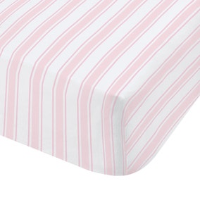 Bianca Check Stripe 100% Cotton Fitted Sheet