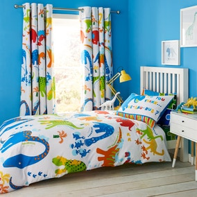 Catherine Lansfield Dino-Saw Easy Care Single Duvet Cover and Pillowcase Set