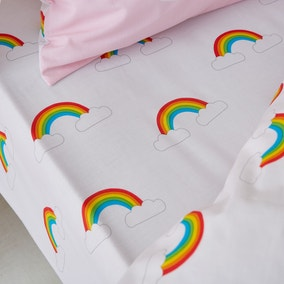 Catherine Lansfield Rainbow Swan Easy Care Fitted Sheet