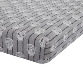 Catherine Lansfield Skulls Easy Care Double Fitted Sheet