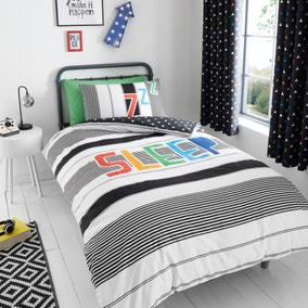 Catherine Lansfield Sleep Glow In The Dark Duvet Cover and Pillowcase Set