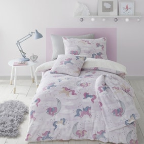 Catherine Lansfield Unicorn Dreams Glow In The Dark Duvet Cover and Pillowcase Set