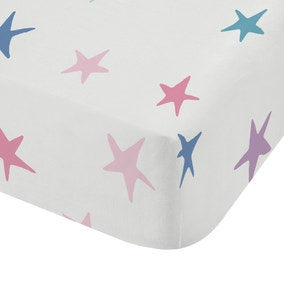 Bianca Woodland Unicorn And Stars 100% Cotton Fitted Sheet