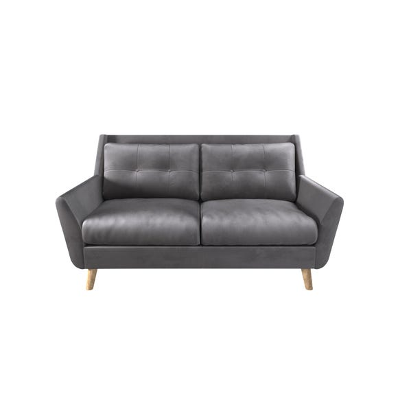 Halston Velvet 2 Seater Sofa Grey