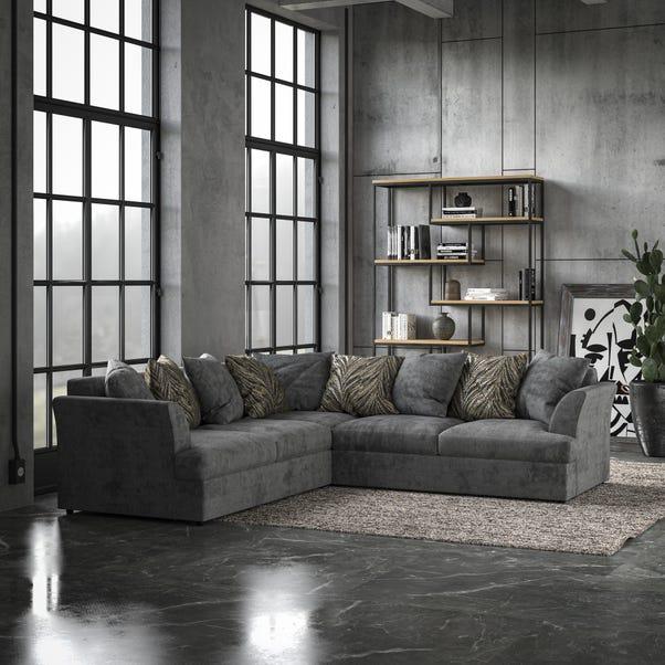 Mellors Chenille Corner Sofa Pewter