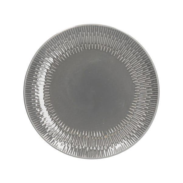 Zen Grey Dinner Plate Light Grey