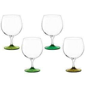 Set of 4 LSA Coro Balloon Leaf Gin Glasses
