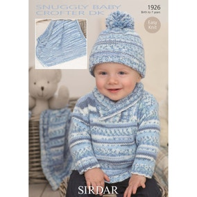 Sirdar 1926 Snuggly Baby Crofter DK Sweater, Blanket and Hat Leaflet