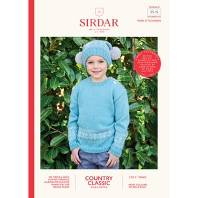 Sirdar 2515 Country Classic DK Jumper and Bobble Hat Set Leaflet