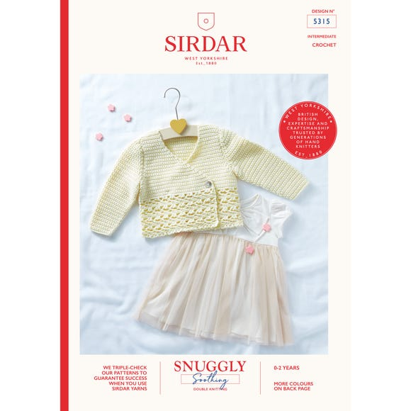 Sirdar 5315 Snuggly Soothing DK Classic Cardigans  Leaflet MultiColoured