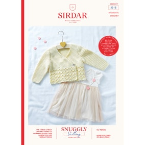 Sirdar 5315 Snuggly Soothing DK Classic Cardigans  Leaflet