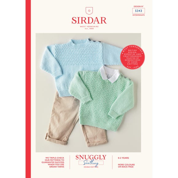 Sirdar 5343 Snuggly Soothing DK Lovely Jumpers Leaflet MultiColoured
